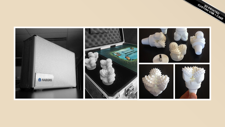 custom 3D printed USB keys and case