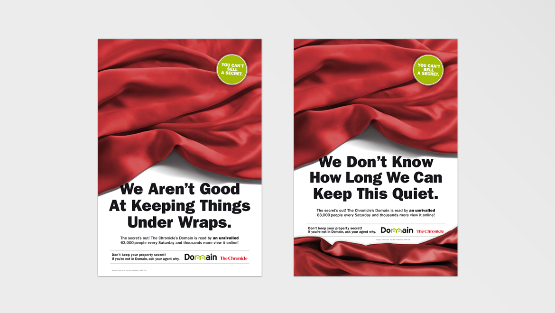 Domain 'Secret' newspaper ads