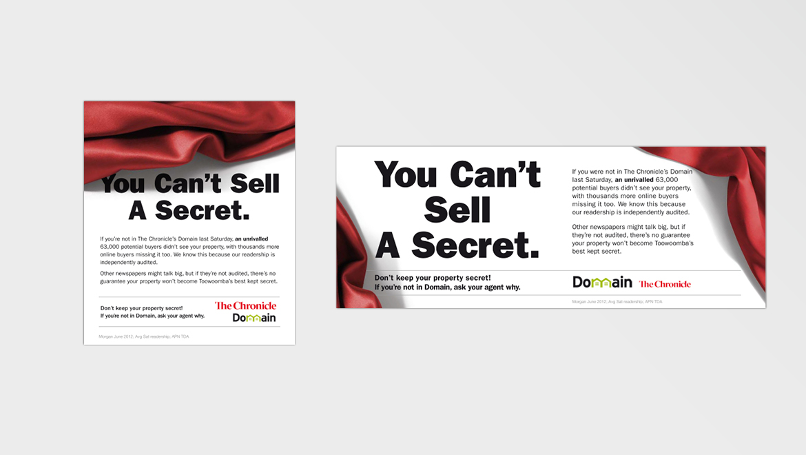 Domain 'Secret' newspaper ads