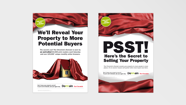 Domain 'Secret' newspaper ads phase 2