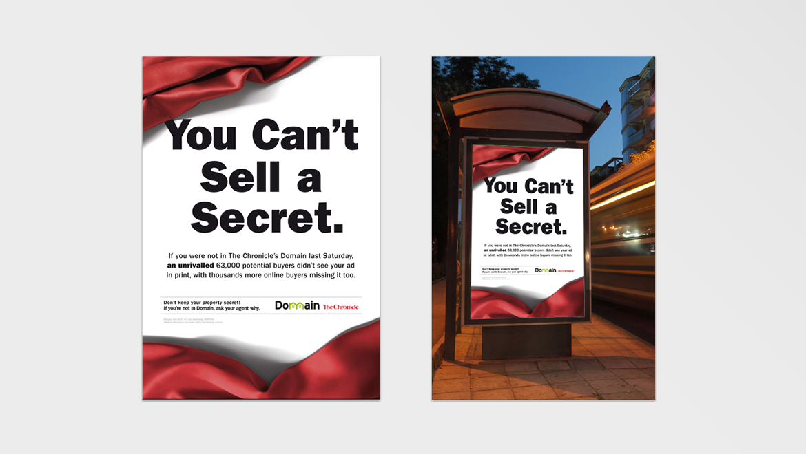 Domain 'Secret' campaign bus shelter ad