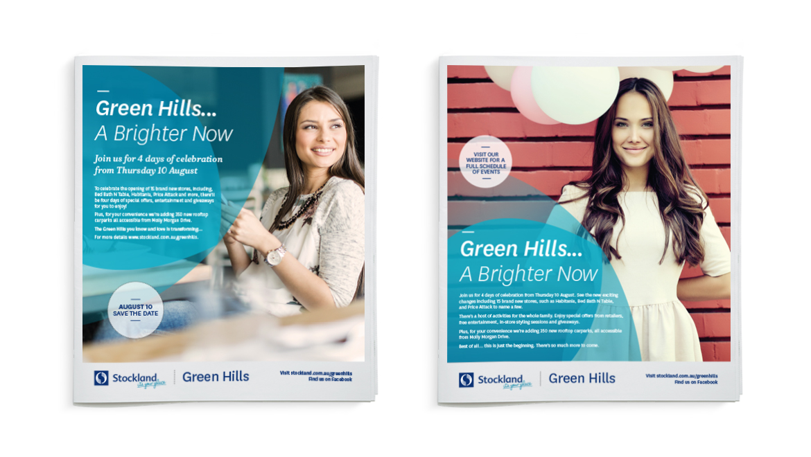 Stockland launch and pre launch press ads
