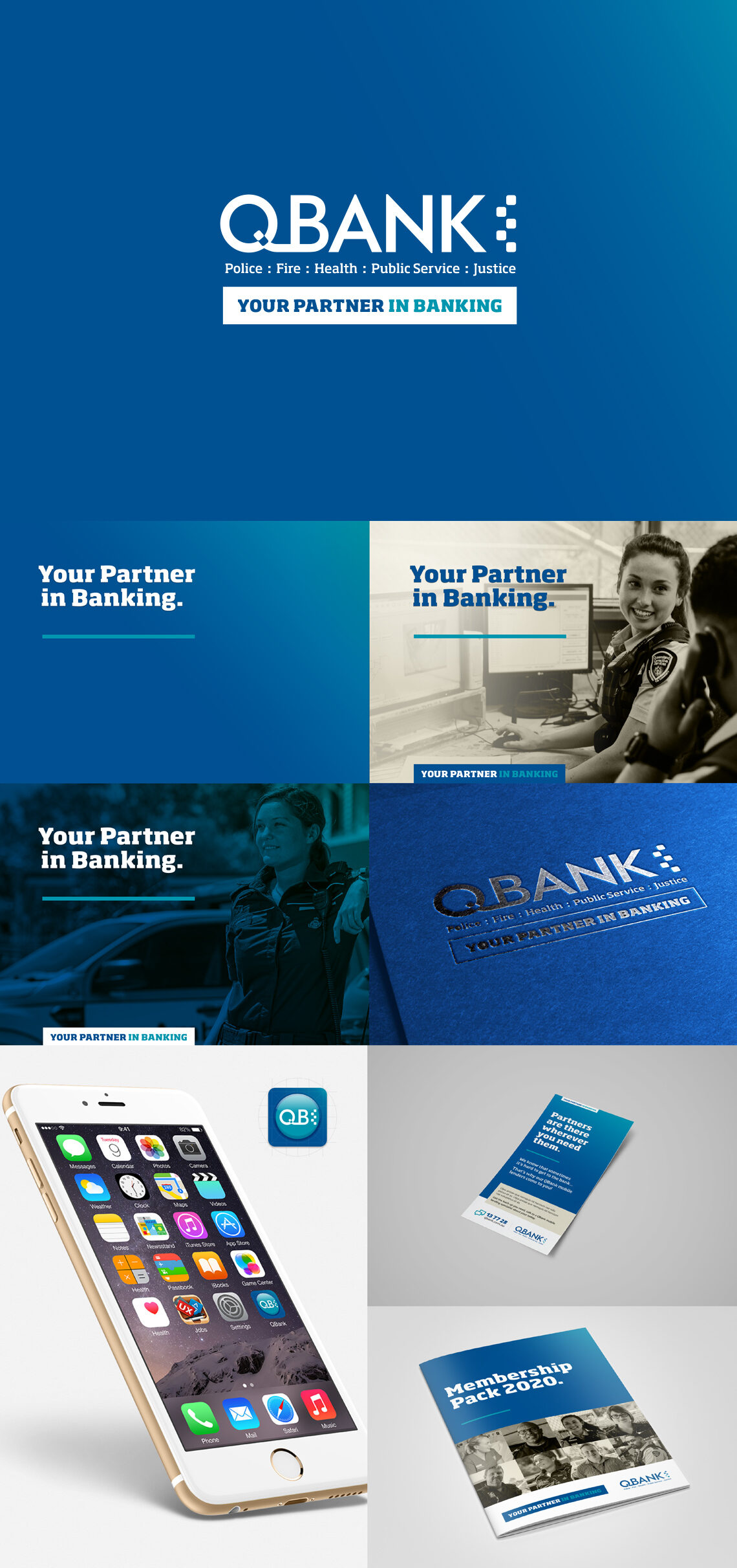 QBank Brand refresh and corporate graphic design